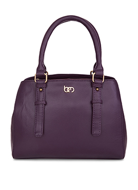 Bagsy Malone Violet Leather Hand Bag