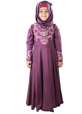 Bahijah Purple Kids Abaya