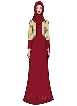 Barbados Cherry Georgette Abaya