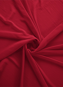 Barbados Cherry Georgette Fabric