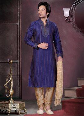 Beautiful Art Dupion Silk Kurta Pyjama