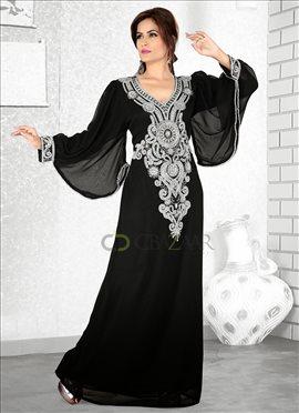 Beautiful Black Georgette Fustan