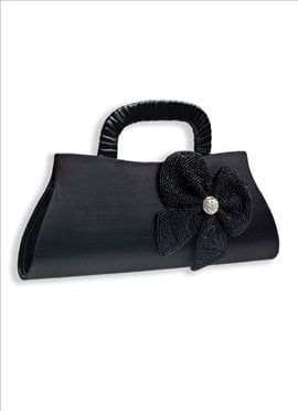 Beguiling Black Art Dupion Silk Clutch