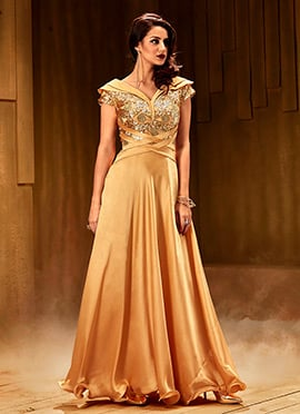 Beige Anarkali Gown