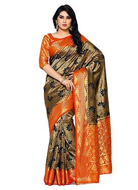 Beige Art Kancheepuram Silk Saree