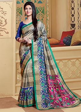Beige Art Silk Divyanka Tripathi Saree