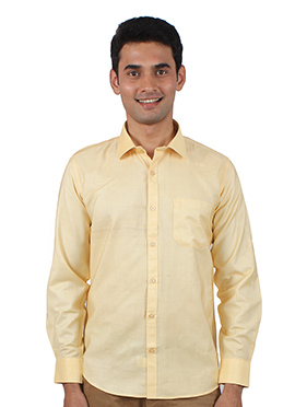 Beige Art Silk Shirt