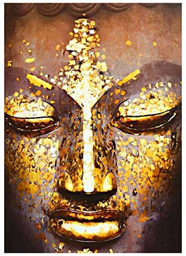 Beige Buddha Canvas