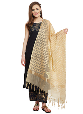 Beige Cotton Dupatta