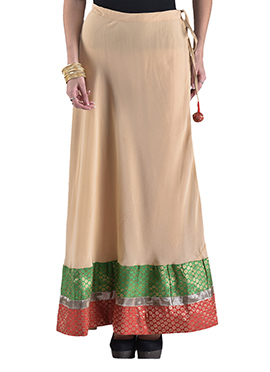 Beige Georgette Skirt