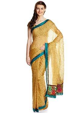 Beige Kota Cotton Saree
