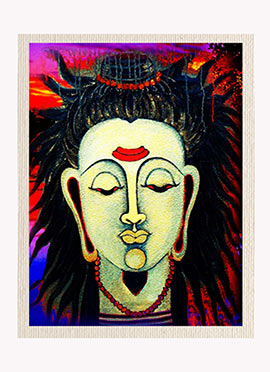Beige Lord Shiva Canvas