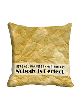 Beige Nobody is Perfect Cushion Cover
