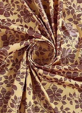 Beige Printed Cotton Fabric