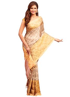 Beige Pure Silk Handloom Saree