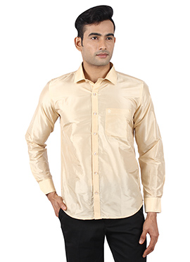 Beige Pure Silk Shirt