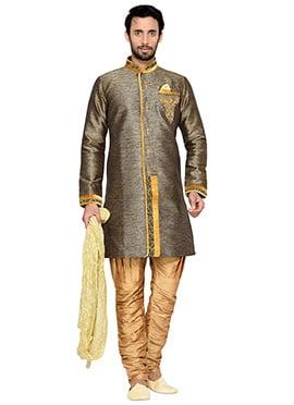 Beige Shade Breeches Style Indowestern Sherwani