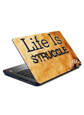 Beige Struggle Laptop Skin