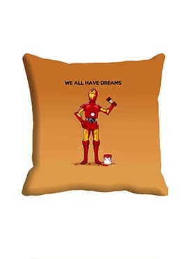 Beige We All Have Dreams Cushion Cover
