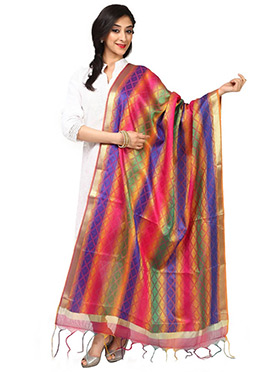 Benarasi Art Silk Multicolored Dupatta