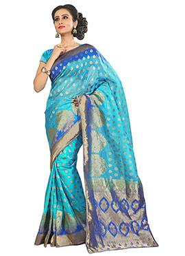 Benarasi Silk Sky Blue Saree