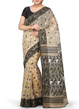 Bengal Handloom Silk Cotton Jamdani Saree