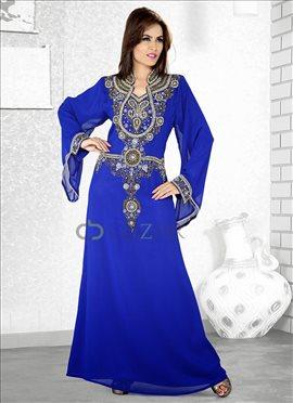Bewitching Blue Georgette Fustan