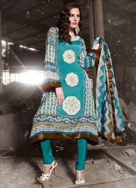 Bewitching Cotton Churidar Suit