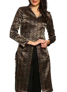 Black 9rasa Brocade Tunic