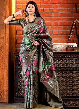 e7704fe0bc351 Black Art Benarasi Patola Silk Saree