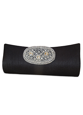 Black Art Dupion Silk Clutch