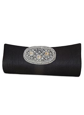 Black Art Dupion Silk Clutch