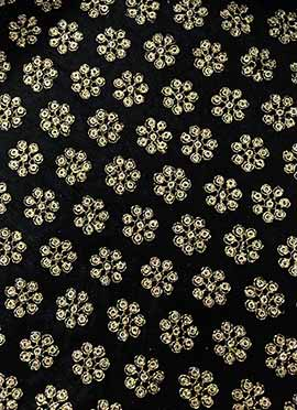 Black Art Dupion Silk Fabric