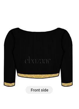 Black Art Raw Silk Blouse