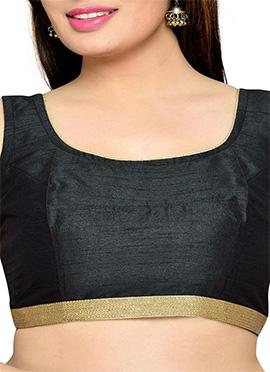 Black Art Silk Blouse