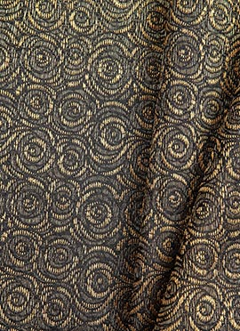 Black Art Silk Brocade Fabric