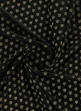 Black Art Silk Fabric