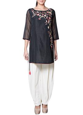 Black Art Silk Salwar Set