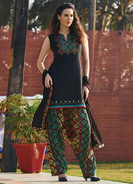Black Art Silk Salwar Suit
