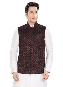 Burgundy Bandhgala Jacket