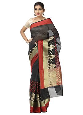 Black Benarasi Art Silk Saree