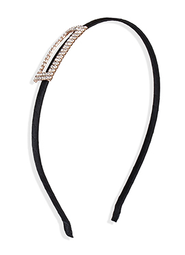 Black Color Stone Studded Hair Band