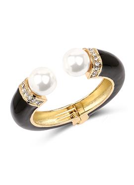 Black Colored Pearl N Stone Studded Kada