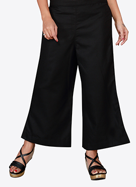 Black Cotton Culottes