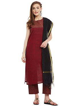 Black Cotton Dupatta