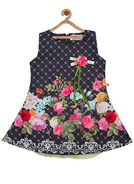 Black Cotton Kids Dress