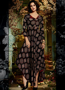 Black Cotton Rayon Tunic