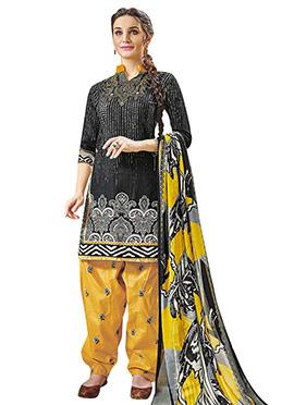 Black Cotton Salwar Suit