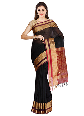 Black Cotton Saree