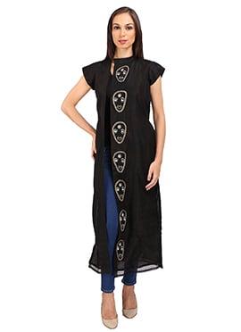 Black Cotton Silk Jacket